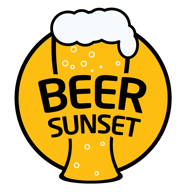 logo beer sunset